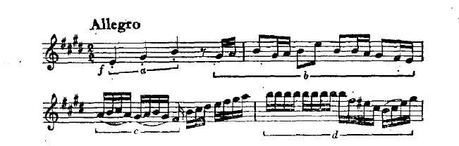 E大调小提琴协奏曲曲谱