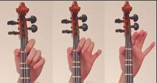 小提琴左手手指按弦要求