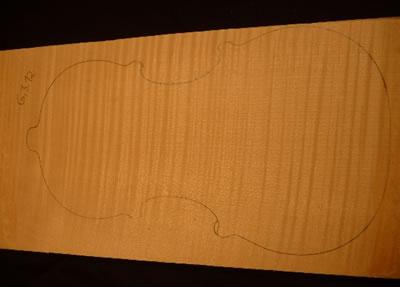 提琴背板材料