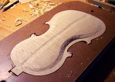 小提琴背板制作之琴边制作