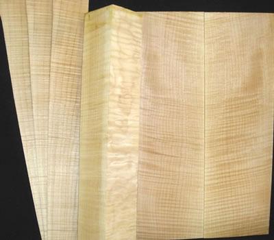 制作琴头和侧板木材