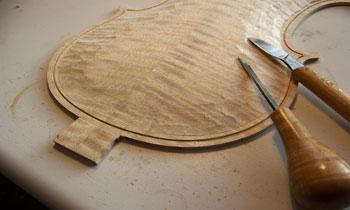 小提琴背板制作之肩钮制作