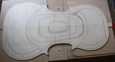 小提琴背板制作之内里划分