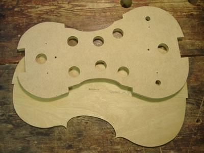 小提琴内模具