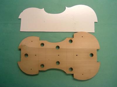 小提琴内模具制作方法
