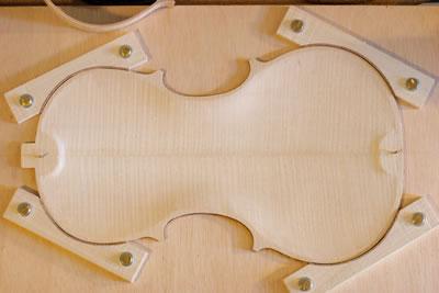 小提琴托板的制作