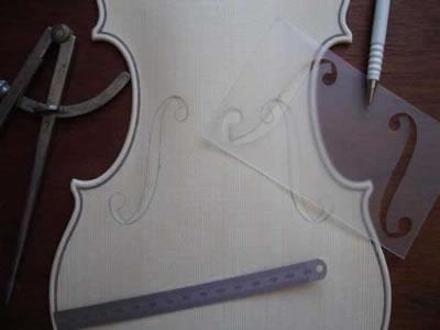 小提琴音孔样板制作