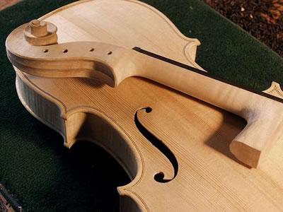 小提琴琴头制作之琴颈