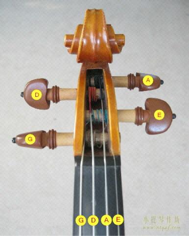 小提琴G,D,A,E四根琴弦的音色及发音