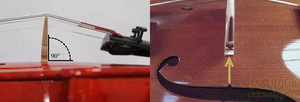 小提琴琴码垂直度和音孔豁口位置