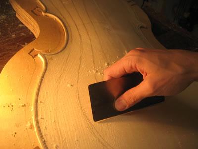 制作提琴使用的刮刀和刮片工具