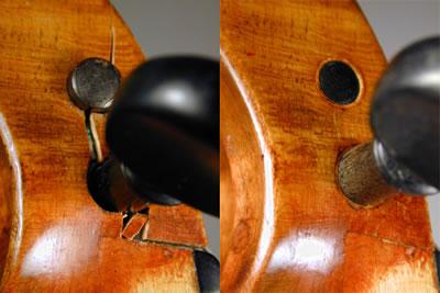 提琴弦轴盒盒壁加固方法