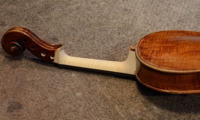 提琴琴颈修复制作嫁接木块