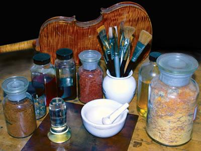 提琴油性漆和酒精漆的配方材料