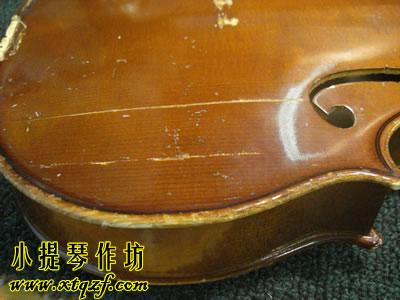 小提琴面板开裂