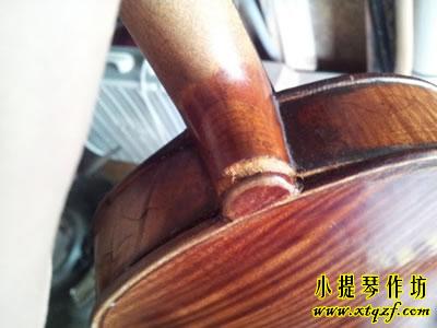 小提琴琴颈开裂