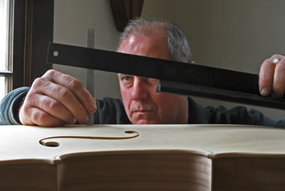 小提琴指板到面板的距离投射高度