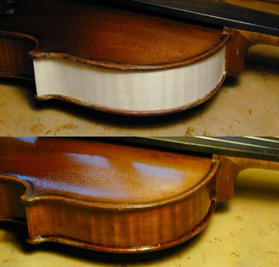 小提琴侧板加高的方法