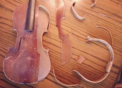 更换提琴端角木块的方法