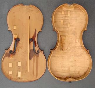 提琴琴板内部的稳固装置