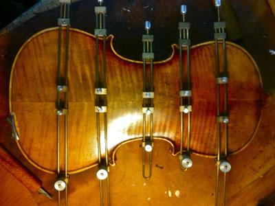 小提琴背板中锋修复方法