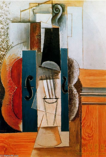 毕加索小提琴画作