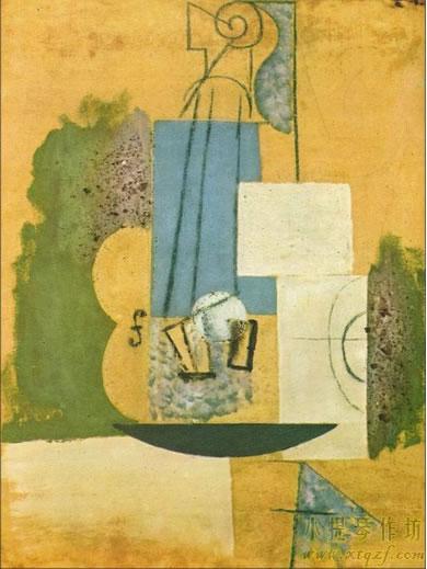 毕加索小提琴油画