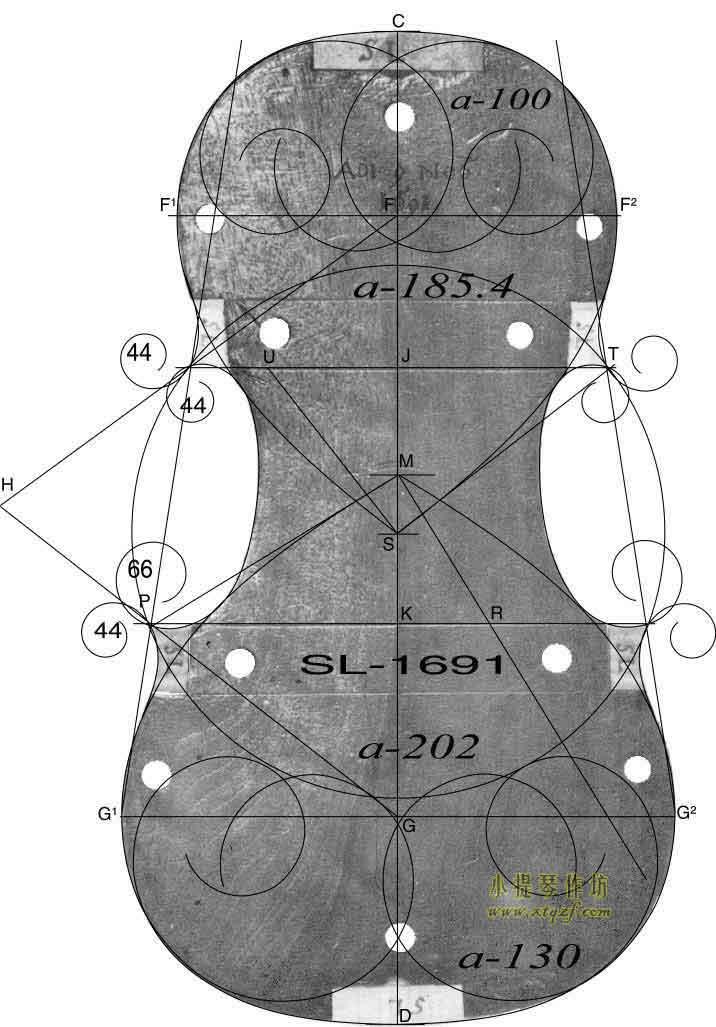 斯特拉迪瓦里 1691年 小提琴内模具