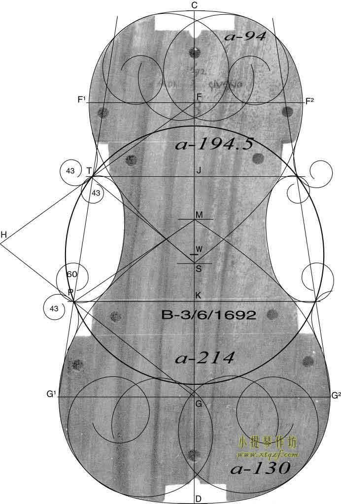 斯特拉迪瓦里 1692年 小提琴内模具