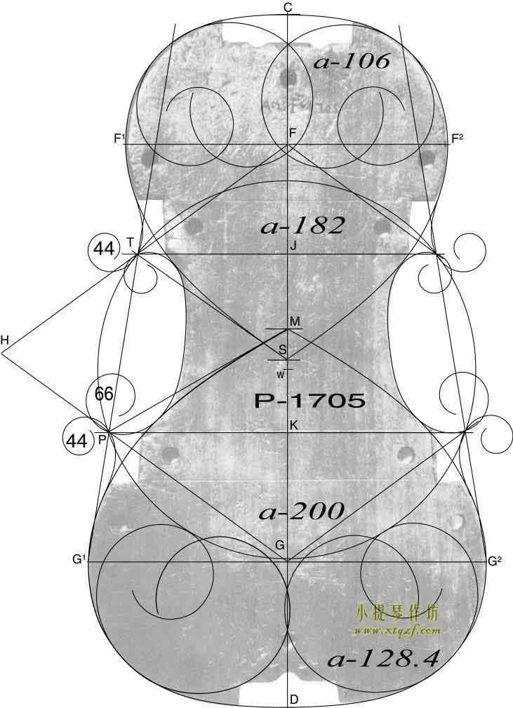 斯特拉迪瓦里 1715年 小提琴内模具