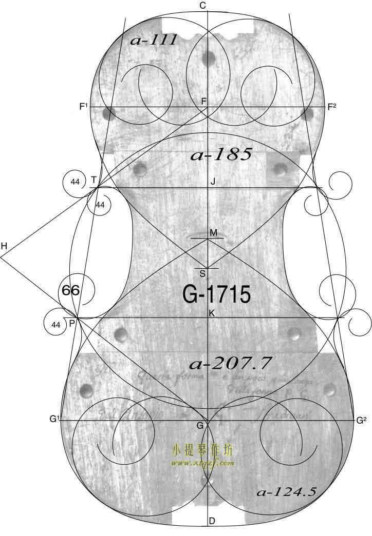 斯特拉迪瓦里 1705年 小提琴内模具