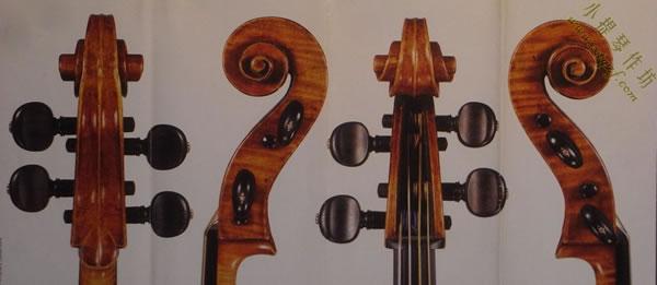 1712大提琴 琴头部位