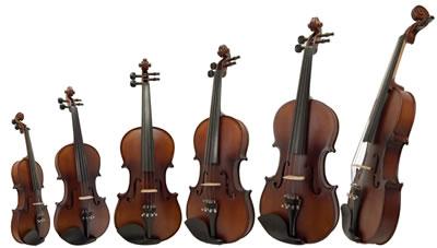 小提琴规格型号大小