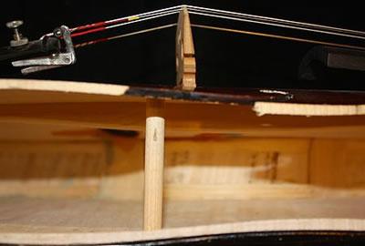 小提琴音柱长度,直径,位置,木料等探讨