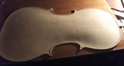 提琴琴板弧度的设计和造型