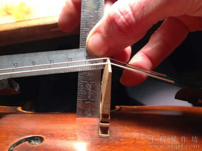 小提琴指板投射高度测量
