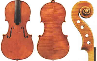 斯特拉迪瓦里 1694年 小提琴制作图纸