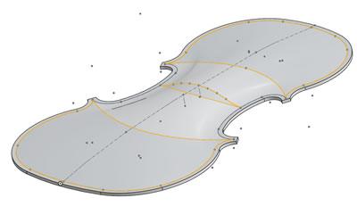 小提琴整体的震动状态