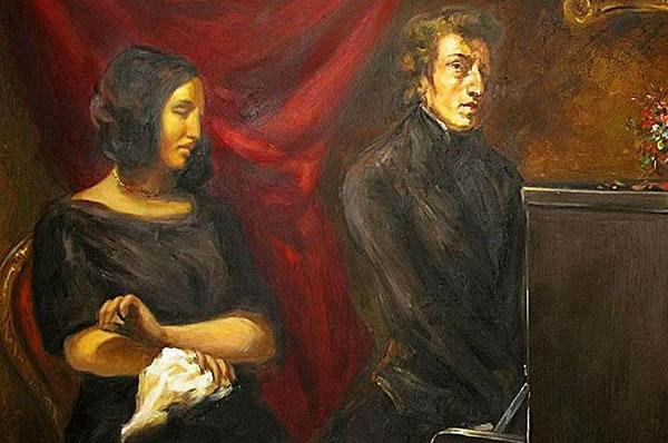 肖邦和乔治·桑双人肖像