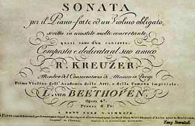 贝多芬 A大调第九小提琴奏鸣曲(克罗采)