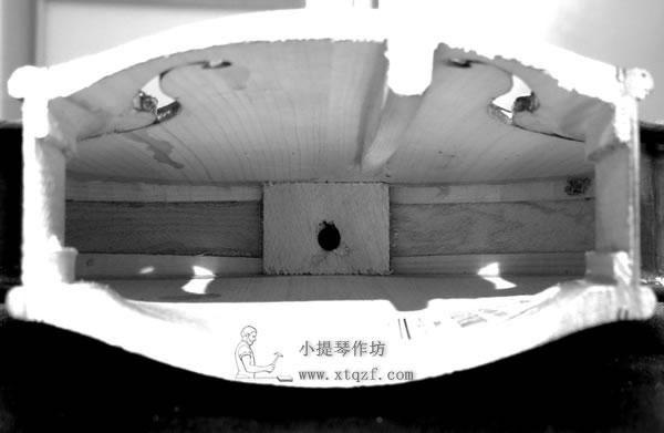 小提琴切面结构图